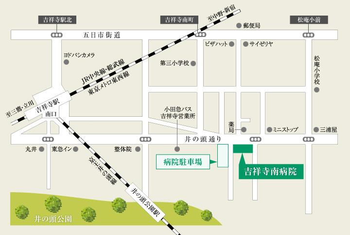 吉祥寺南病院の地図